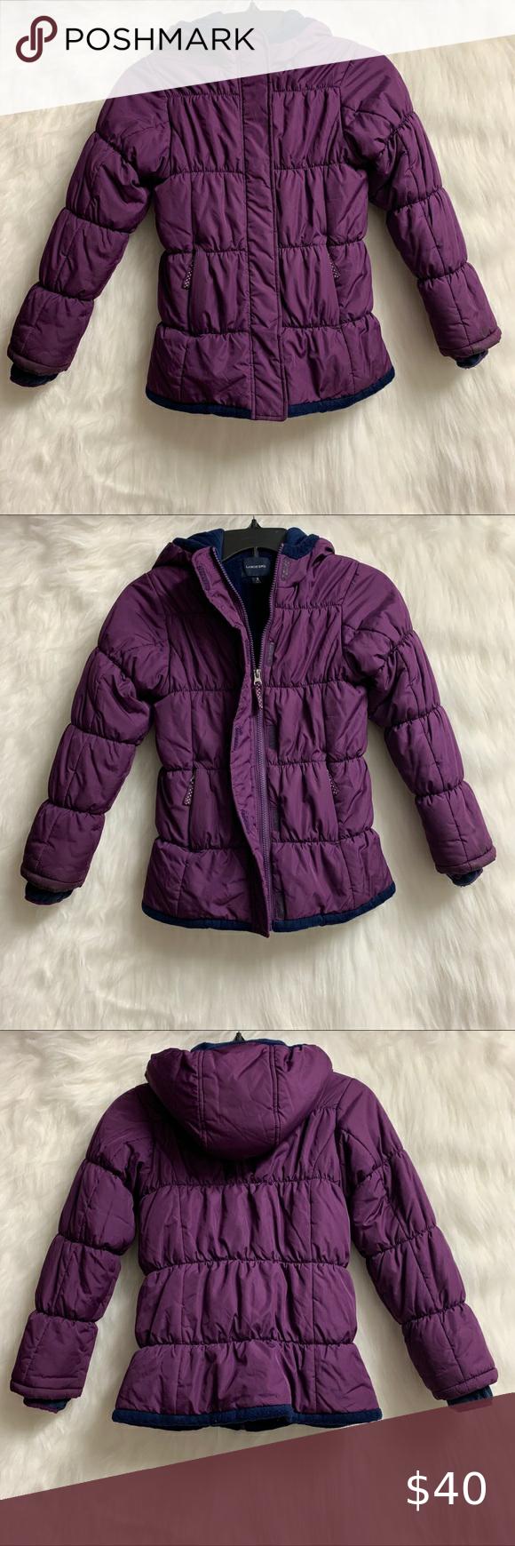 Lands End Girls Fleece Lined Puffer Jacket Girls Puffer Coat Girls Fleece Girls Winter Coats [ 1740 x 580 Pixel ]