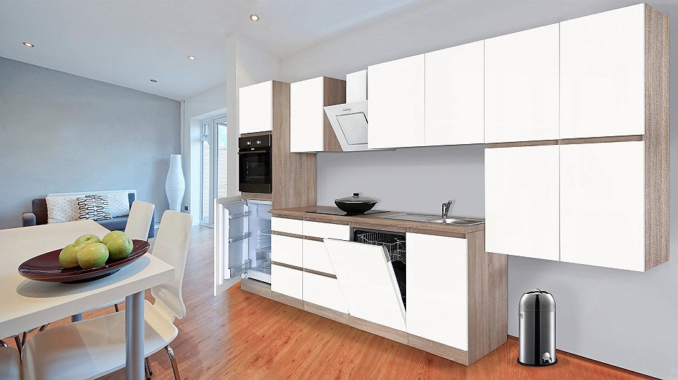 Respekta Küchenzeile mit E-Geräten »Boston«, Breite 380 cm Jetzt - küchenblock ohne e geräte