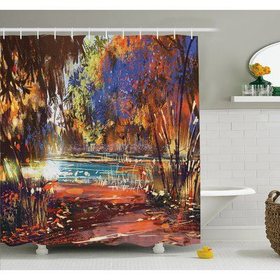 East Urban Home Refreshing Nature Painting At Serene Pond