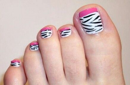 pinvicky rivera on pedicure designs  simple toe nails