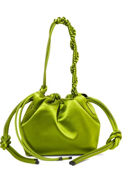 Bucket Bag Satin Bags Leather