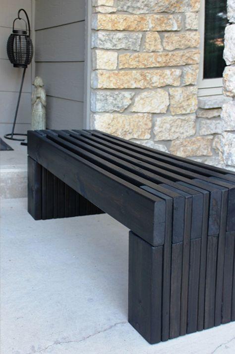 50 coole Garten Ideen für Gartenbank selber bauen Fence boards