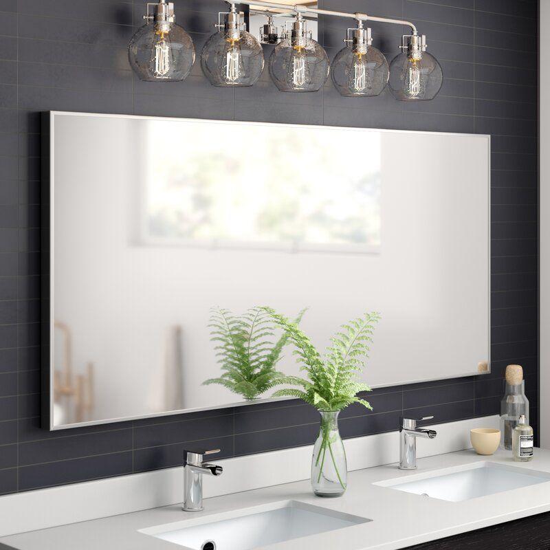 Karson Matte Aluminium Wall Mirror Reviews Allmodern In 2020 Aluminum Wall Mirror Wall Bathroom Mirror