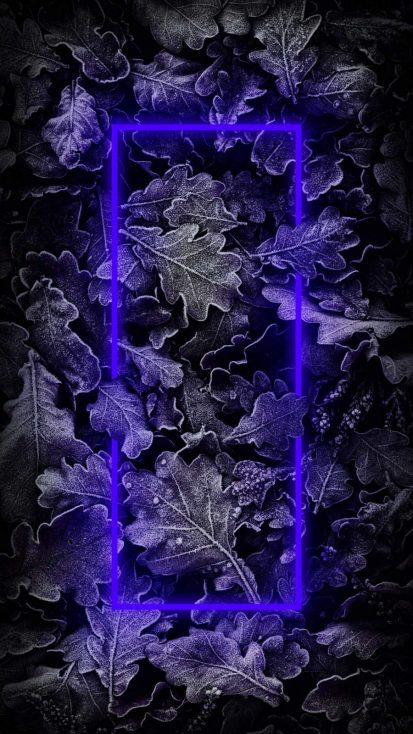 Blue Neon Nature - iPhone Wallpapers