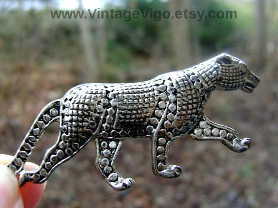 ca4d99ac631f9 Alilang Golden Tone Clear Crystal Collar Shiny Black Panther Puma ...
