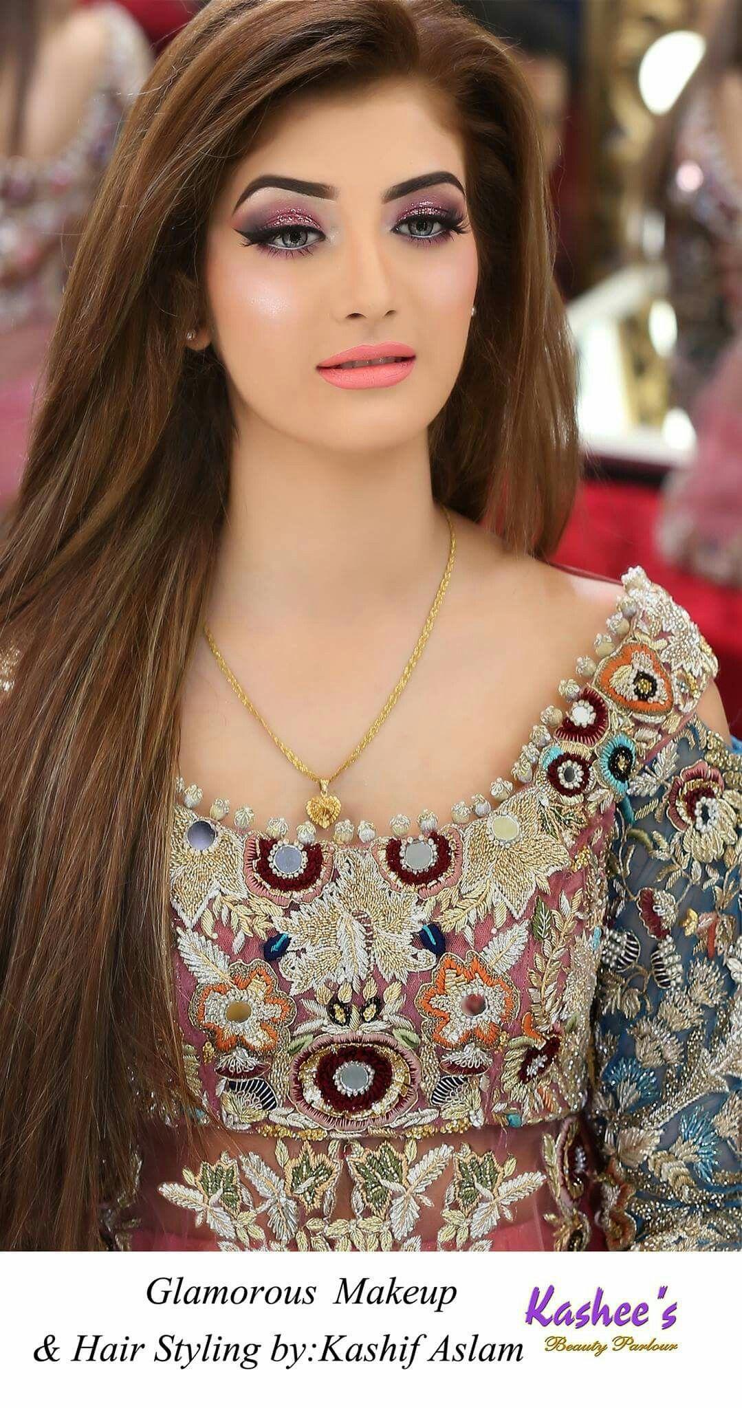 Pin by fazi on Makeup Pakistani bridal hairstyles