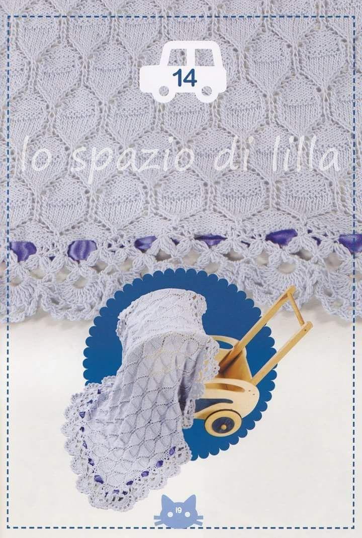 Copertina per neonato all\'uncinetto TantiCuori con schema / Crochet ...