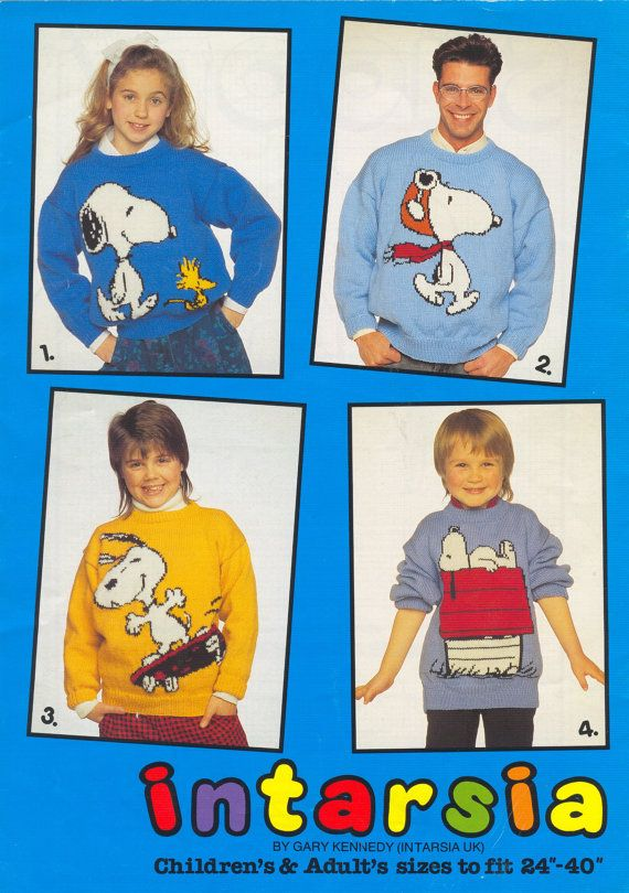 411bfd02a PDF File Snoopy Intarsia Knitting Pattern by RetroNeedles on Etsy ...