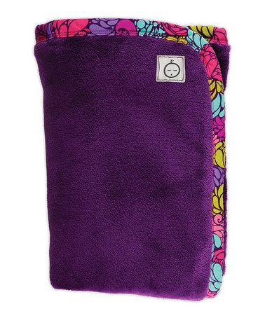 Take a look at this iota Purple Groovy Girl Stroller Blanket by Tote Style: Diaper Bags & Gear on #zulily today!