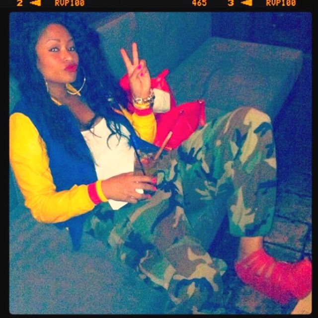 It's not always about matching ; about to bring my army cargos out the closet , bringing back my tomboy ways thanks to Tae Heckard <3 Pretty Girl Swag Aye!