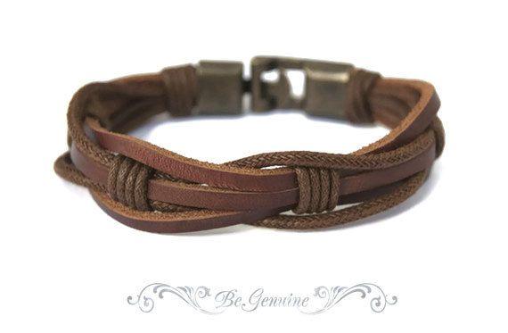 Gift for Women Leather Bracelet Gift Gift for Men Woven Leather Woven Bracelet Women Gift Adjustable Bracelet Men gift idea