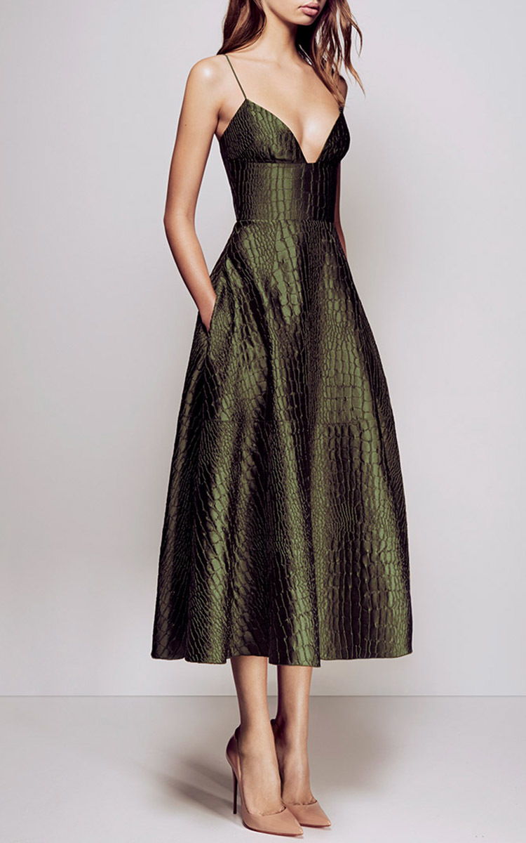 Gorgeous Reptile Midi Dress – Love the Look! | Ashby Dodd