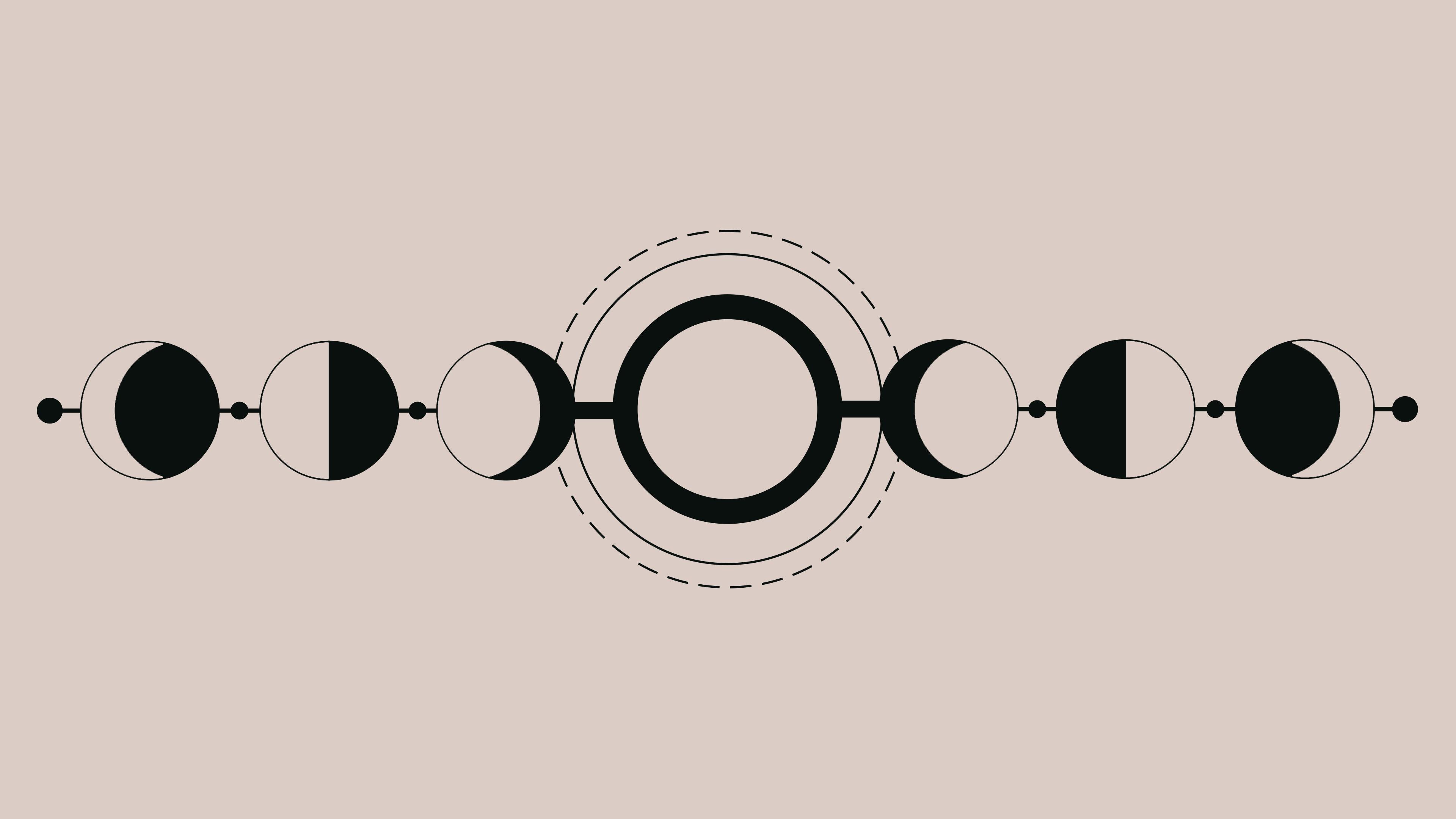 Geometric Lunar Phases [3840 x 2160] Lunar phase, Phone