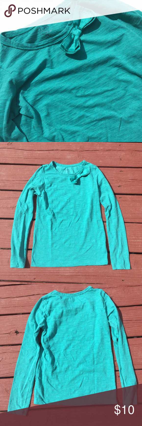 Joe Fresh Top Beautiful long sleeve top with cute bow. Super soft and lightweight. Perfect for the new school year! No flaws. Joe Fresh Shirts & Tops