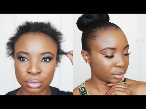 Sleek Bun On Short Hair Video Black Hair Information Community