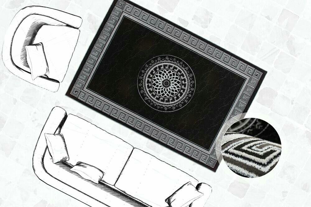 Orient Teppich im schwarz weiß Stil Dieser Teppich wertet jedes - wohnzimmer schwarz rot weiss