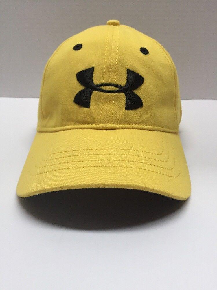 Mens Yellow Under Armour Hat Heatgear Size M L  b9c1dc14af8