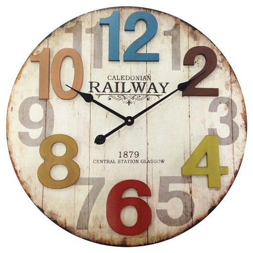 70 Infinity Instruments Weathered Wood Finish Clock Target Wall Clock Weathered Wood Finish Wall Clock Design