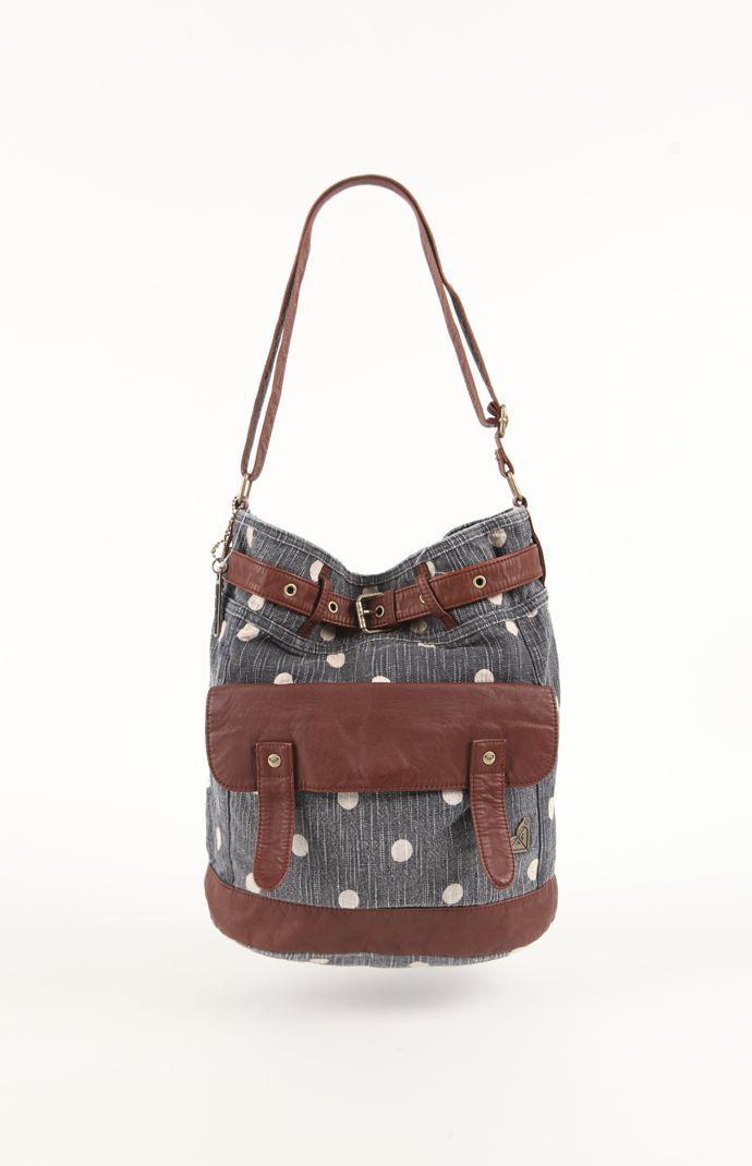 Womens Roxy Handbags Ocean Fall Dot Crossbody Bag