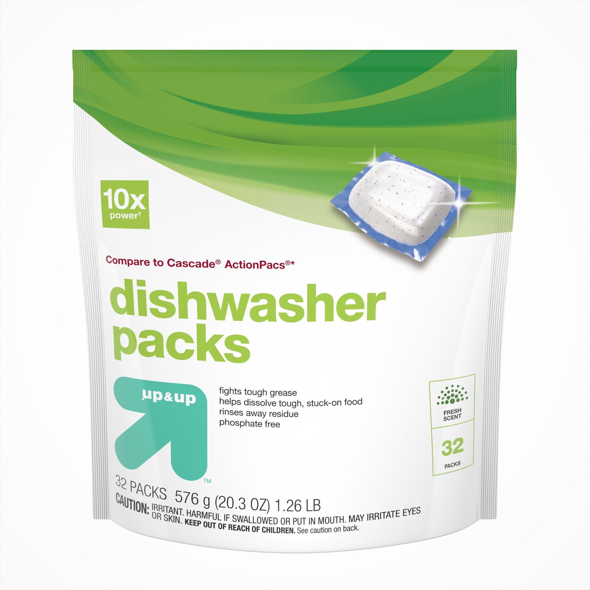 Up Up Dishwasher Detergent Pacs 32ct Compare To Cascade