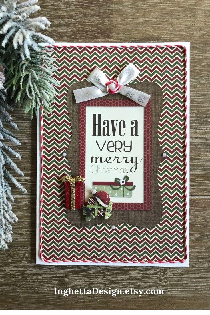 Merry Christmas greeting card, Christmas gift, family