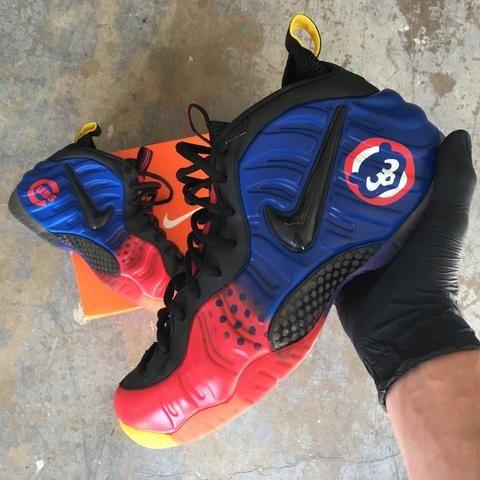 Custom Chicago Cubs Nike Foamposites