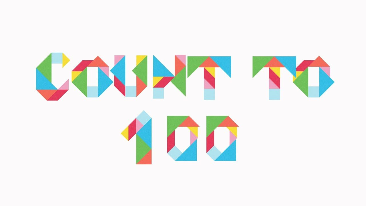 Count To 100 Relaxing Colourful Tangram Numbers Animation