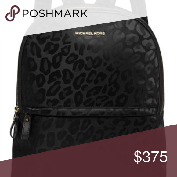 f898f6b9fd18 ... low price mk backpack cheetah black cheetah leopard backpack used about  3x excellent condition michael kors