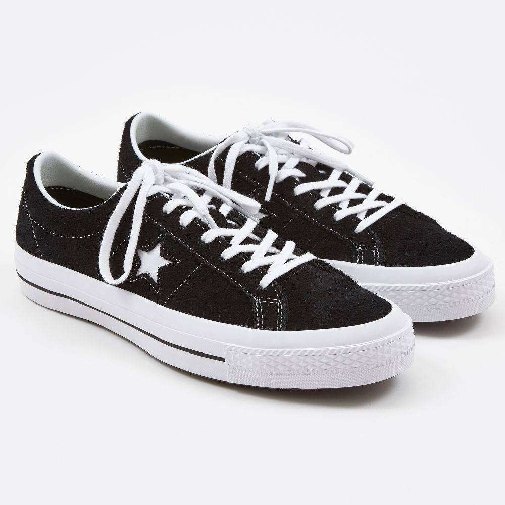 Converse One Star Hairy Suede Black | Converse one star