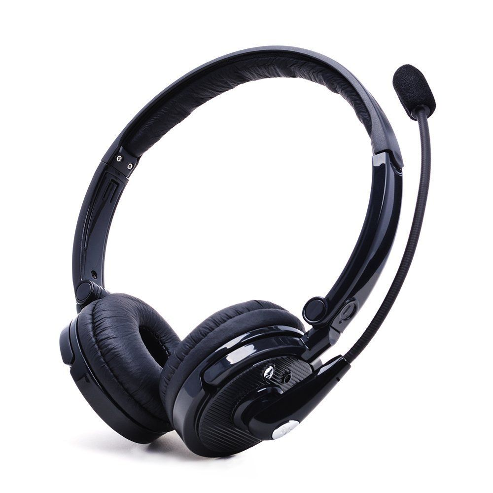 Newzor Business Head Wearing Stereo Bluetooth Headset Noise Cancelling Headphone With Mic Hand Free Wireless Headsets Head Headphones Headset Bluetooth Headset