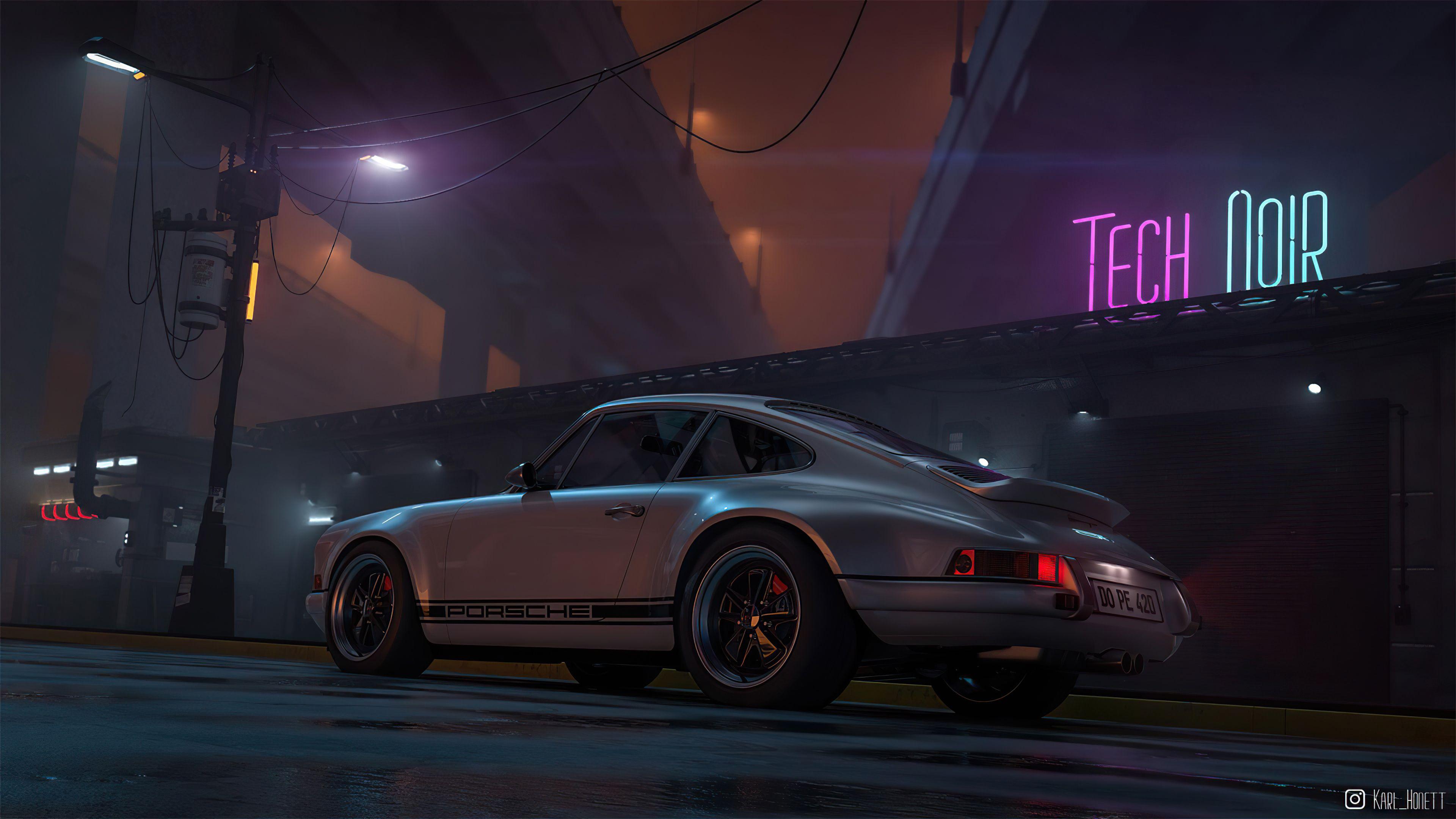 Porsche Outrun 4k Porsche Outrun 4k Wallpapers In 2021 Porsche Wallpaper Hd Widescreen Wallpapers