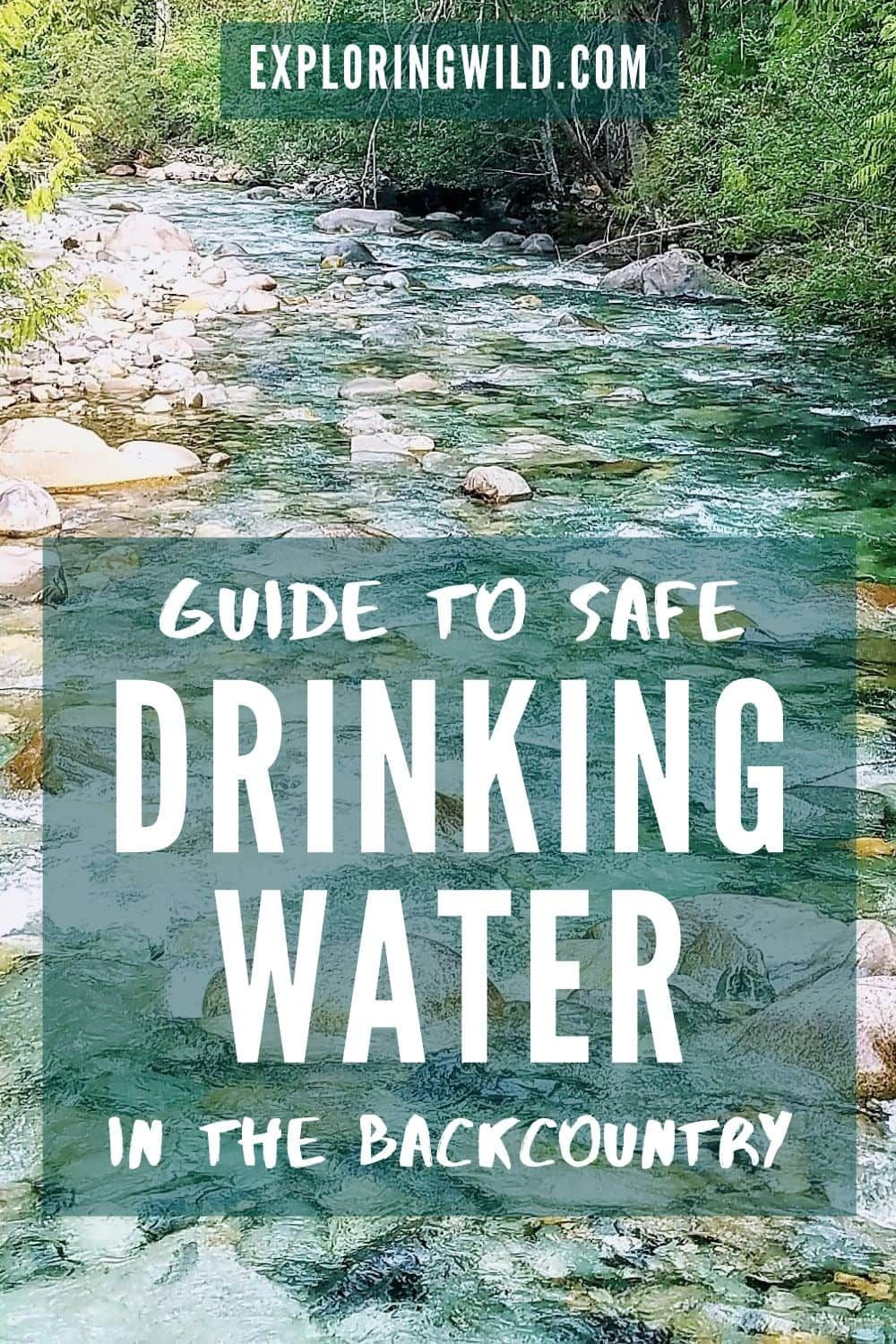 Photo of Guide to Safe Backcountry Drinking Water