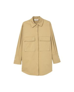 Embroidered Panel Jacket by Mango