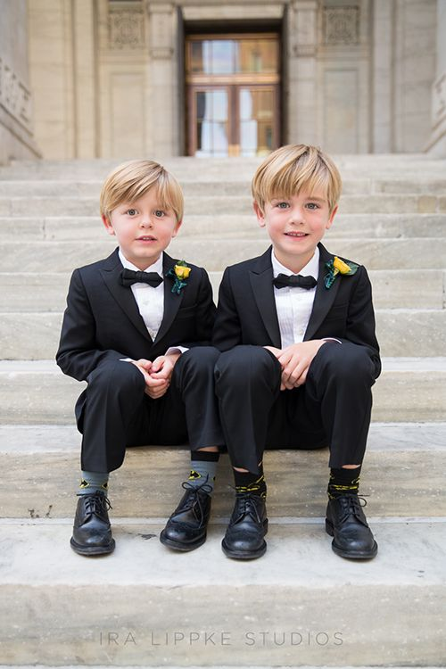 A Glamorous Wedding at the New York Public Library | Ring bearer ...