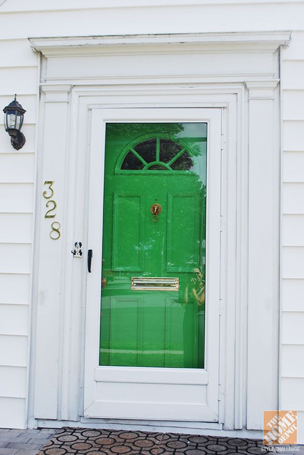 How To Paint A Door For Great Curb Appeal Green Front Doors Painted Doors Painted Front Doors