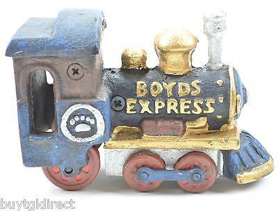 Boyds Bears Express Train Engine Locomotive Cast Iron Figurine Collectible Decor