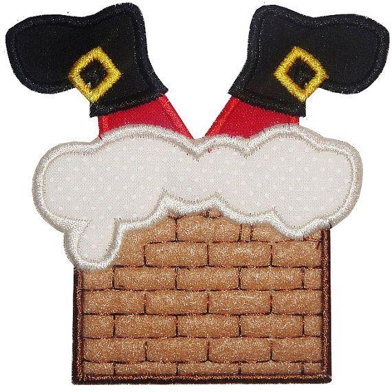 Santa's Stuck  Custom Applique Shirt by StealingKisses on Etsy, $15.00