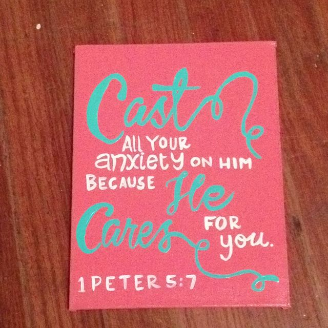 bible verse canvas 1 peter 57 easy artwork that inspires