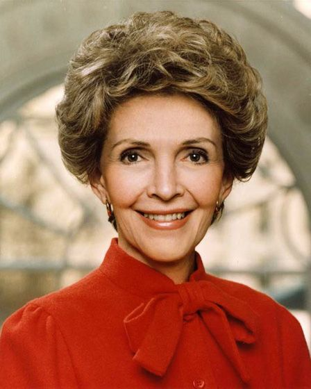 """Nancy Reagan, Former First Lady quoting Eleanor Roosevelt """"A woman is like a tea bag: you cannot tell how strong she is until you put her in hot water."""""""