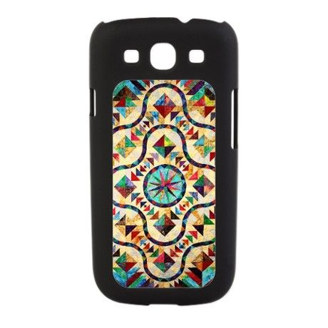 Stained Glass Quilt Pattern Galaxy S3 Switch Case on CafePress.com  They place patterns on lots of different items