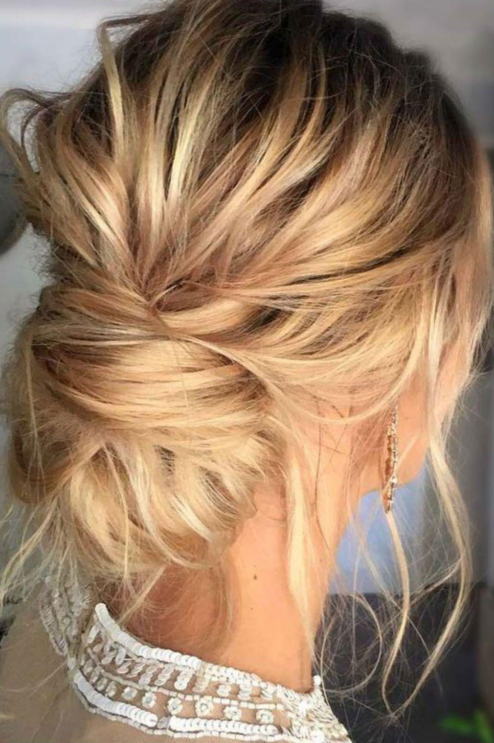23++ Coiffure chignon cheveux mi long des idees