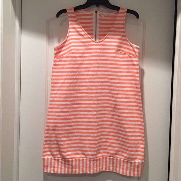 Old Navy Striped Dress - Coral & White Size Medium Very comfy & cool...only worn twice! Old Navy Dresses