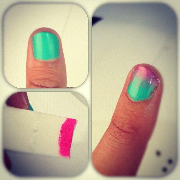 ombre nails DIY | Nail it. | Pinterest | Diseños de uñas, Nails ...