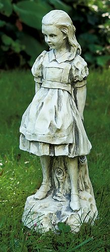 Alice statue from old durham road his answer trickled - Alice in wonderland garden statues ...