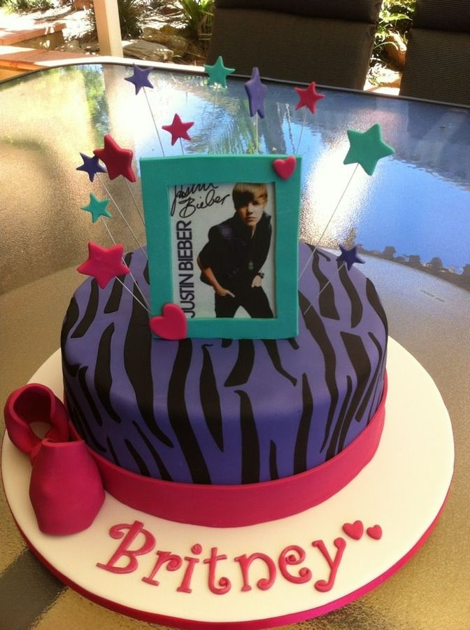 For A Bieber Fan Edible Omag And Fondant Accents Kids Birthday