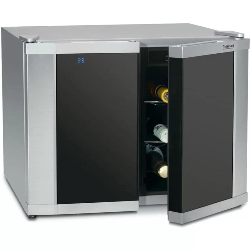 Cuisinart 12 Bottle Dual Zone Freestanding Wine Refrigerator In 2020 Wine Cellar Wine Refrigerator Locker Storage