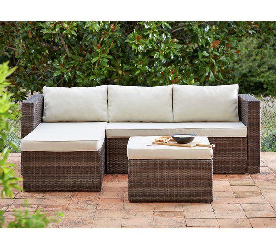 Buy Home 3 Seater Rattan Effect Mini Corner Sofa At Argos