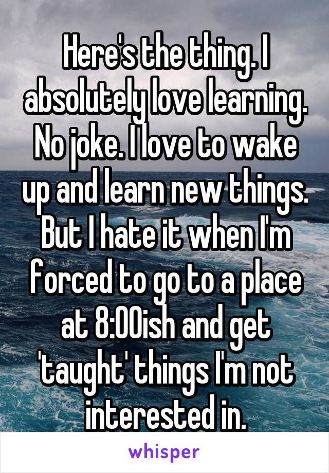 i want to learn new things