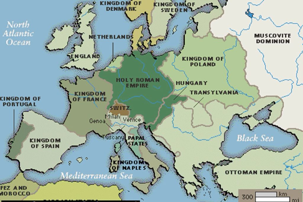 1500 1700 A D Europe as it stood by the 16th century The Ottoman