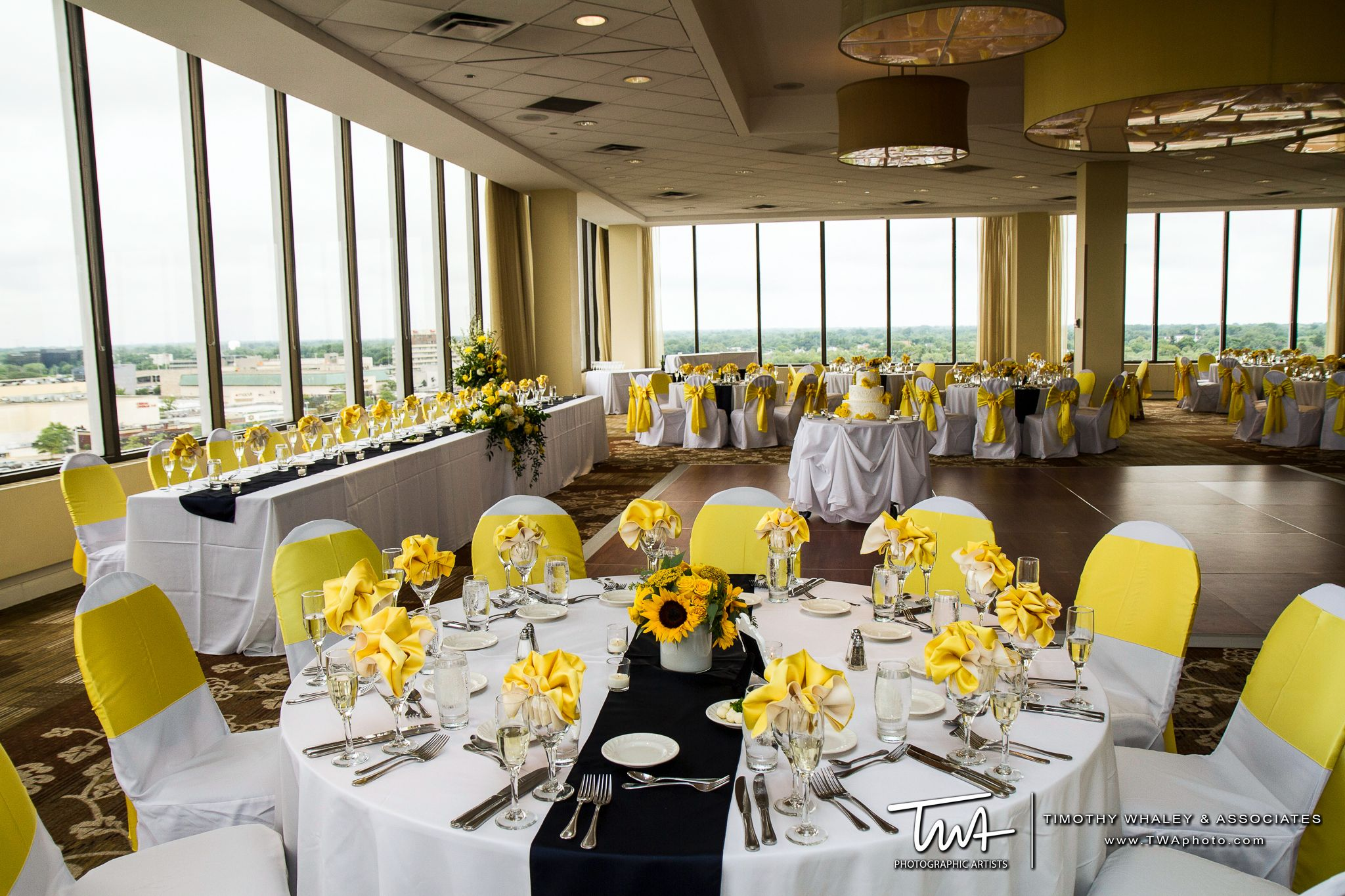Columns ivory fabric uplighting wedding ceremony downtown double tree - Twa Weddings At Doubletree Chicago North Shore Conference Center In Skokie Il Click The